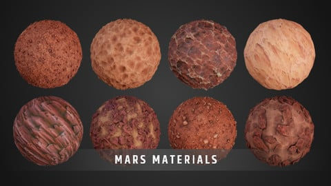 Stylized Mars Material Pack