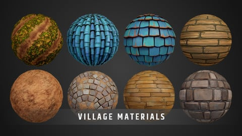 Stylized Village Materials Pack