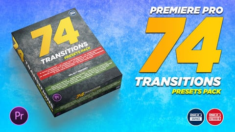 74 Transitions Adobe Premiere Pro Presets Pack