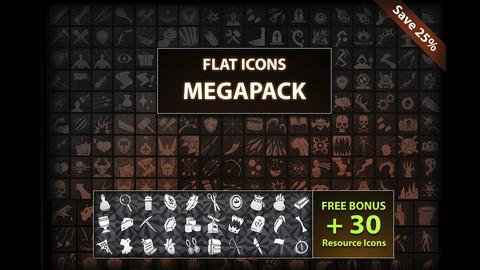 Flat Icons MEGAPACK