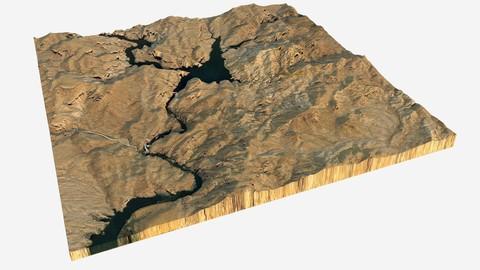 Canyon Lake 3D Model
