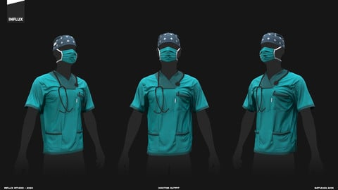 Marvelous Designer Doctor Outfit