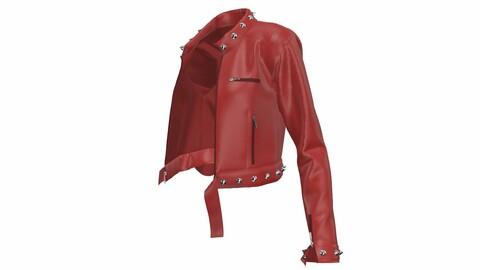leather jacket/ Marvelous Designer & CLO3d Project