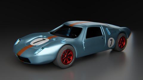 Vintage Racer - Game ready car