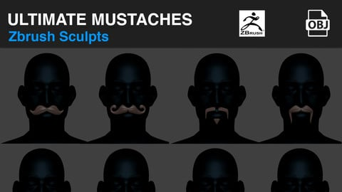 Ultimate Mustaches Pack ( Facial Hair )