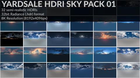 YARDSALE : HDRI SKY PACK 01||32HDRIs