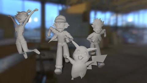 Pokemons stars Diorama pack