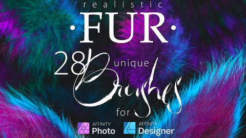 Realistic FUR Brushes for Affinity Photo & Designer