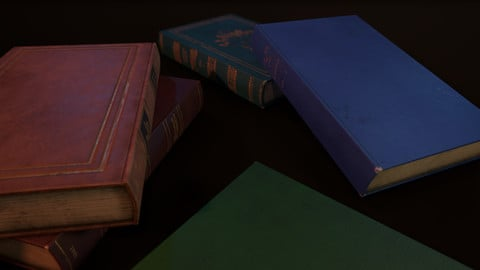 Old Books - PBR Model