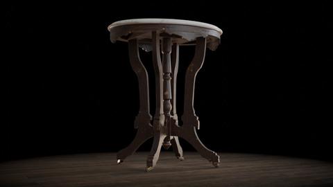 Antique Pedestal Table 003