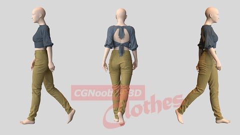 Women Summer Blouse - 33 Marvelous Designer and Clo3D
