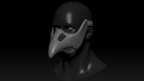 Quarantine Mask Plague Doctor Cyberpunk