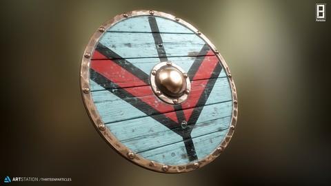 4K PBR Texture of Viking shield