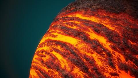 4k PBR Texture Of Lava Lake