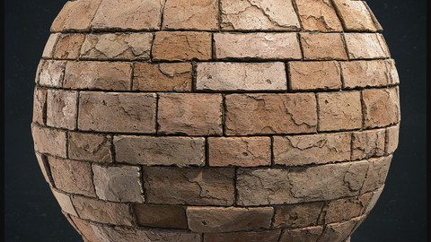 Medieval Brick Wall Material - Substance Designer