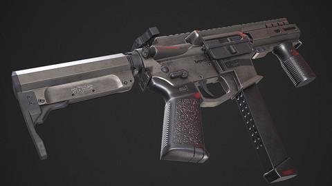 MKGS BANSHEE - PBR Game Ready model VR-AR Low-poly