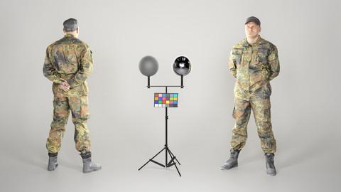 Brave man in military uniform 104