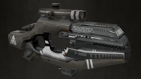 Styalized Sci Fi Assault Rifle