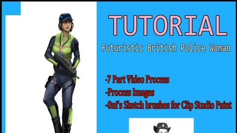 Futuristic Police Woman Concept Process