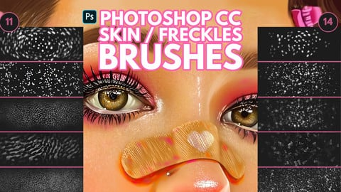 Skin/Freckles Brushes for Photoshop