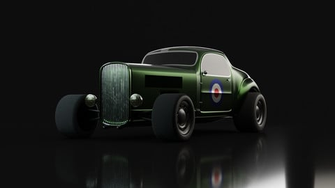 Hot Rod - Game-ready car