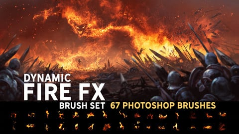 Dynamic Fire FX brush set