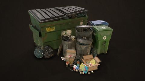 Urban Trash Pack Vol 3 - Low Poly