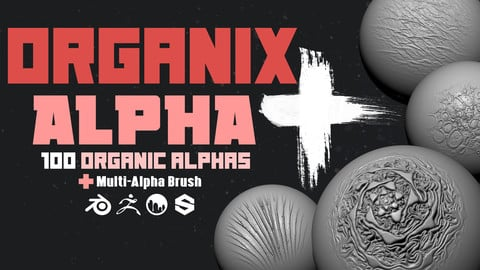 Organix Alpha + :  Zbrush Organic Brushes and Alphas
