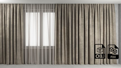 Curtain 2 Max OBJ FBX