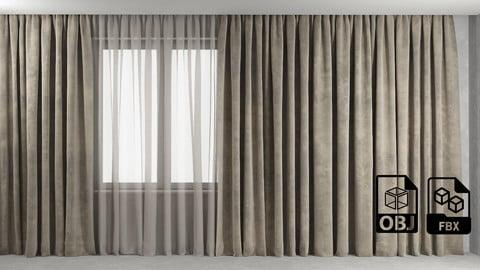 Curtain 2 Max OBJ FBX