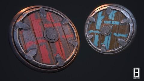 4K PBR Texture of Stylized shield