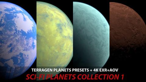 Terragen 4 SCI-FI Planets presets+ 4k EXR+AOV