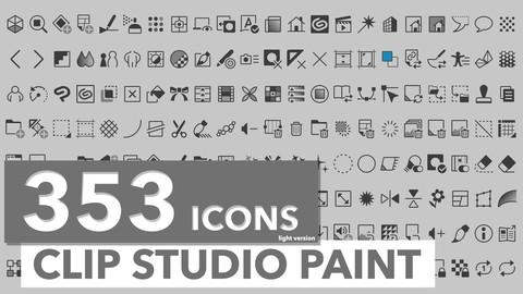 353 Icons Clip Studio Paint Light Theme