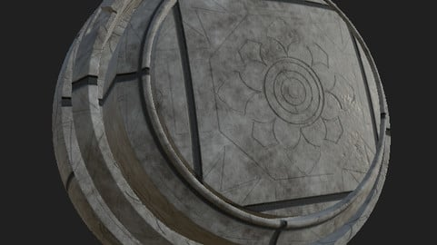 Ornamental croncrete tile floor #2