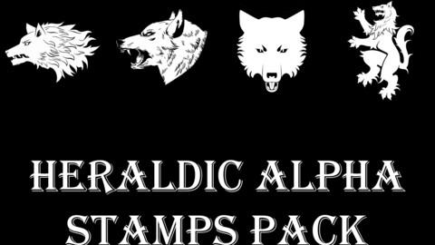 Heraldic Alpha Stamps set (102 images)