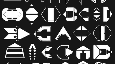 27 Sci-Fi Pointer Signs and Arrows | Decal Pack