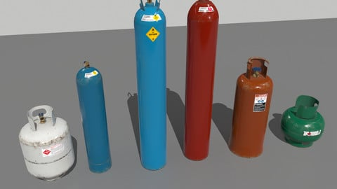 Industrial Gas Cylinders Pack 1