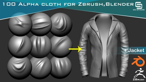 100 High Quality Cloth Alpha For Zbrush And Blender