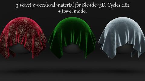 Silk Velvet Fabric Shader. Procedural Material Blender 3d. Cycles 2.82.