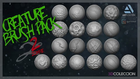 Creature Brush Pack 2 -Zombie