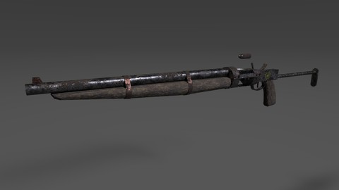 Post apocalyptic single-shot breechloading rifle