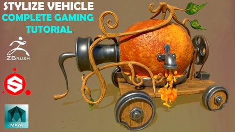 Stylized Vehicle Tutorial – Complete Gaming Pipeline