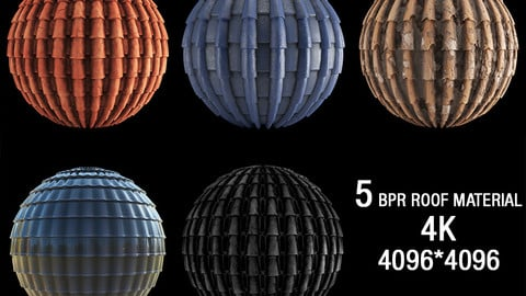 5 PBR roof material 4K