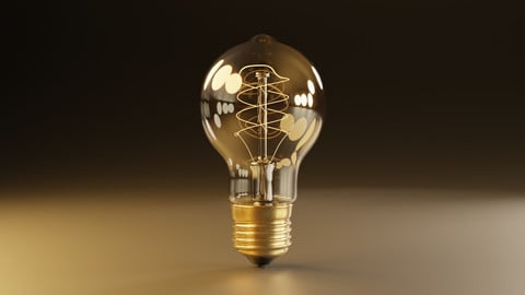 Free Antique Light Bulb