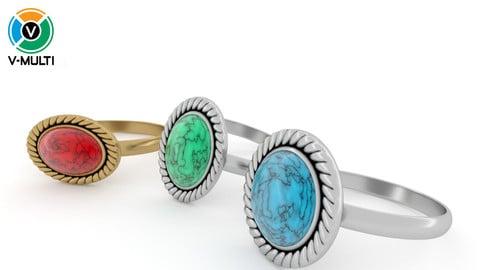 3D Model: Stone Rings