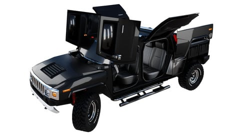 Hummer H3T 3d car model - Cinematic-Showcase