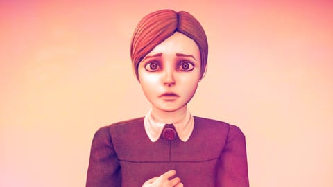 Jennifer(Rule Of Rose) - Stylized Female Character - Game Ready