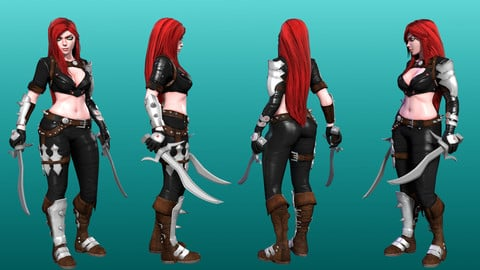 Laia - Stylized Warrior Female Character - Game Ready