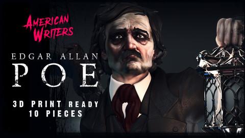 EDGAR ALLAN POE STATUE 3D PRINTABLE