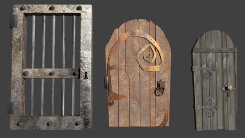 Wooden and metal doors